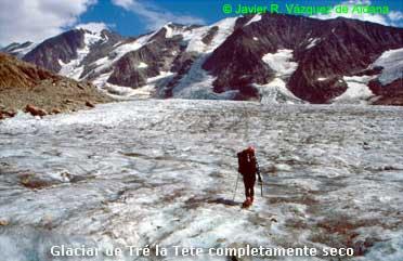 Glaciar de Tré la Tète