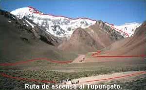 Vista general ascenso Tupungato