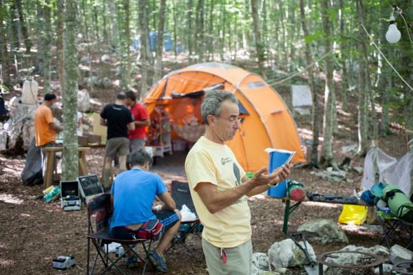 Campo Alburni 2014 - Fasi di montaggio