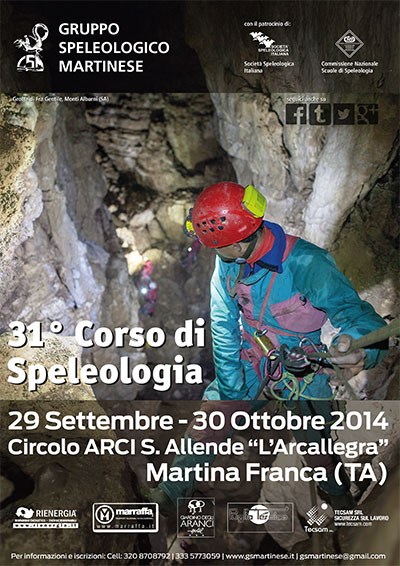 locandina 31° corso speleologia