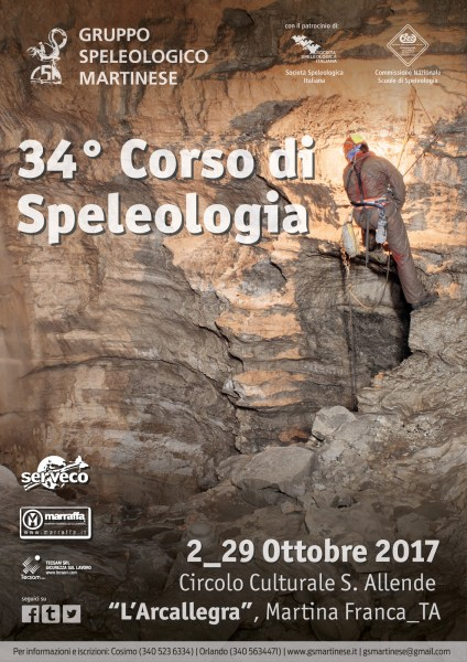 Locandina 34 Corso di Speleologia