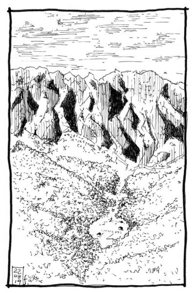 La montagna di Vrane e Madhe - illustrazione di Fabio Semeraro