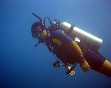 """2006.09_Primeras inmersiones luego de la Certificación PADI """"OPEN WATER"""". Alrededores del Anguilla en Aruba"""