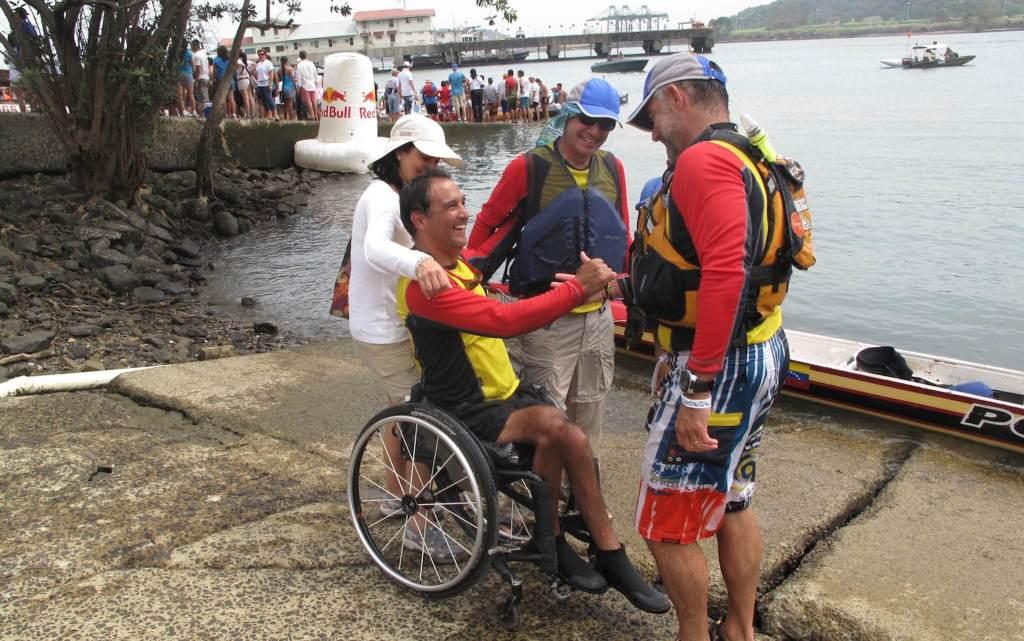 Nunca pude imaginar cuando comencé a remar (no fue un buen comienzo) que sería la primera persona (sin poder caminar)en la historia en atravesar el Canal de Panamá remando