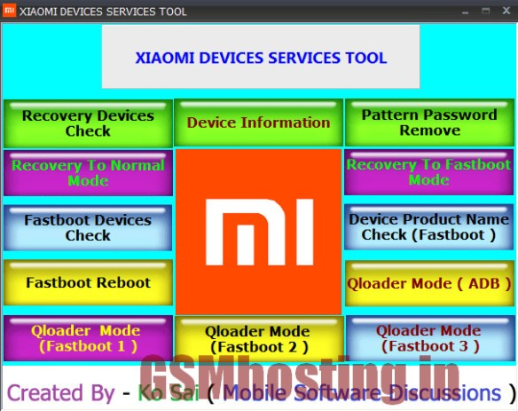 Xiaomi Device Service Tool 100% Working Download | GSM HOSTING