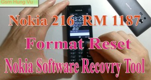 Nokia 216 RM-1187 Security Code Factory Reset