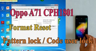 Oppo A71 2018 Pattern Lock Factory Reset