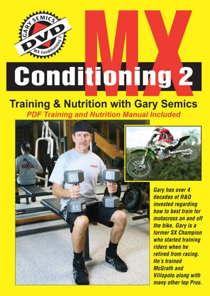 GSMXS Motocross Conditioning #2 - training and nutrition front cover