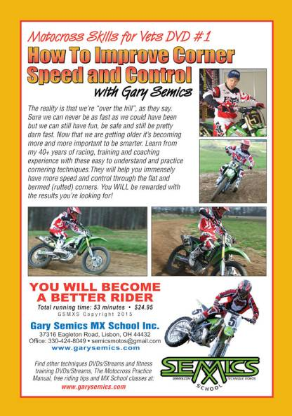 GSMXS Motocross Skills for Vets 1 - Corner Speed, Control front cover
