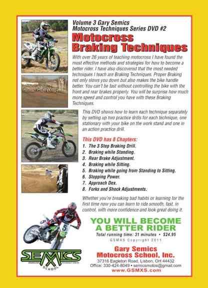 Motocross braking skills