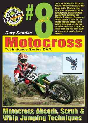 Motocross Jumping Absorbing, Scrubbing, Whipping Techniques front cover