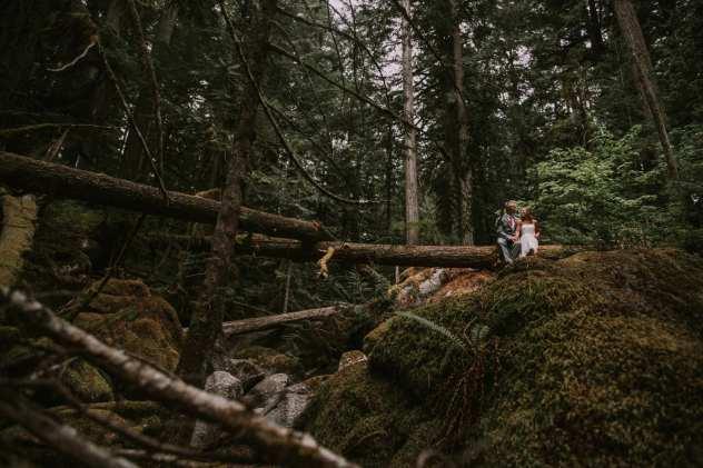 deception falls wenatchee national forest elopement venue pnw wedding