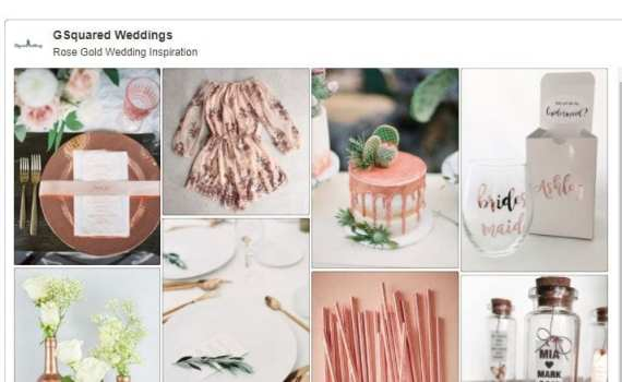Rose Gold Weddings Blush Pink wedding colors palette inspiration ideas and pinterest board