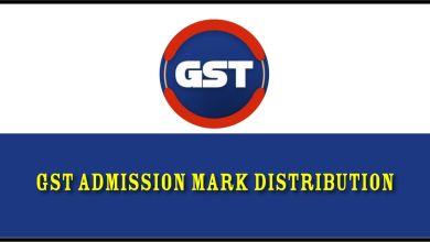 GST Admission Mark Distribution