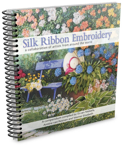 eBook in silk ribbon embroidery – a collaboration of artists from around the world