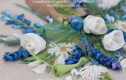 detail Lisanthus and Lavender by Di van Niekerk