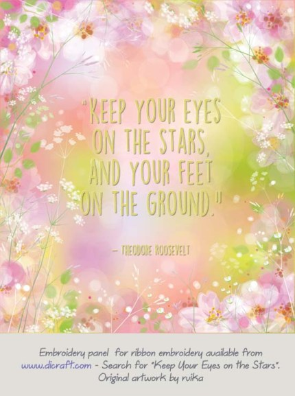 Keep your eyes on the stars - pink