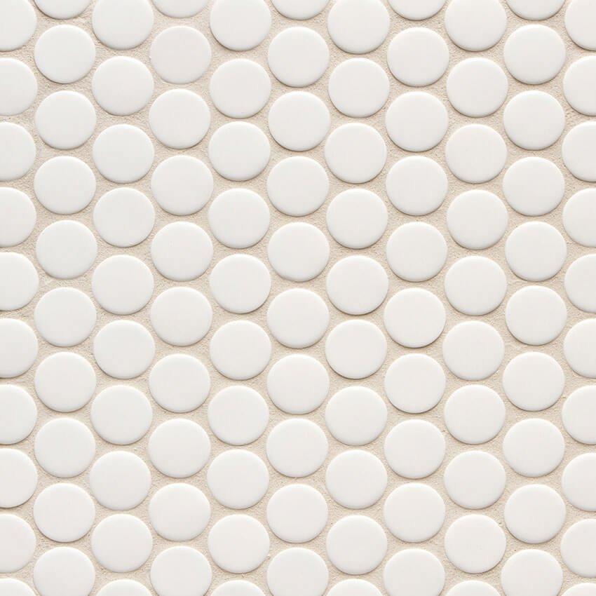 white penny round 11 1 4 x 11 3 4
