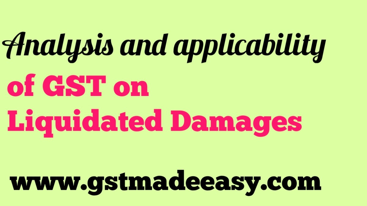 GST on liquidated damages