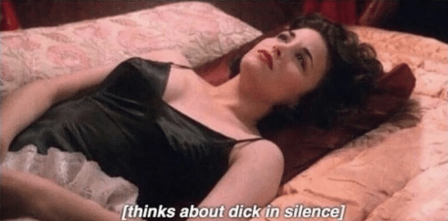 Thinks about dick in silence meme
