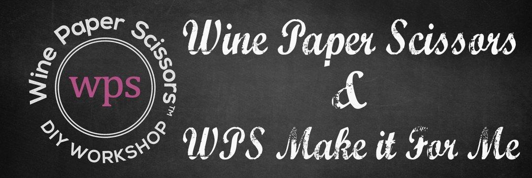 Wine Paper Scissors & WPS Make it For Me wordmarks
