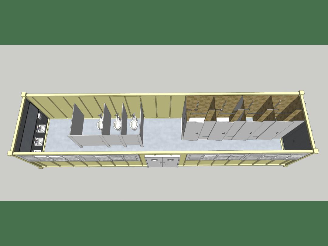 Sanitation Unit - Front-Top