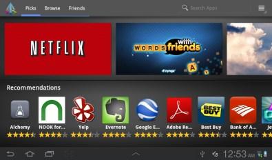 Samsung Galaxy Tab Plus - Apps