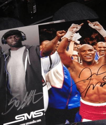 50 Cent - SMS Audio - Money Mayweather - Autographed Picture CES 2012