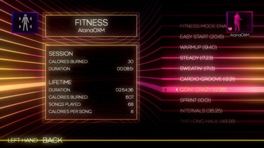 Dance Central 2 - Fitness Mode