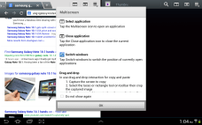 Samsung Galaxy Note 10.1 - How to Multiscreen