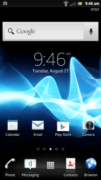 Sony Xperia Ion - Home Screen