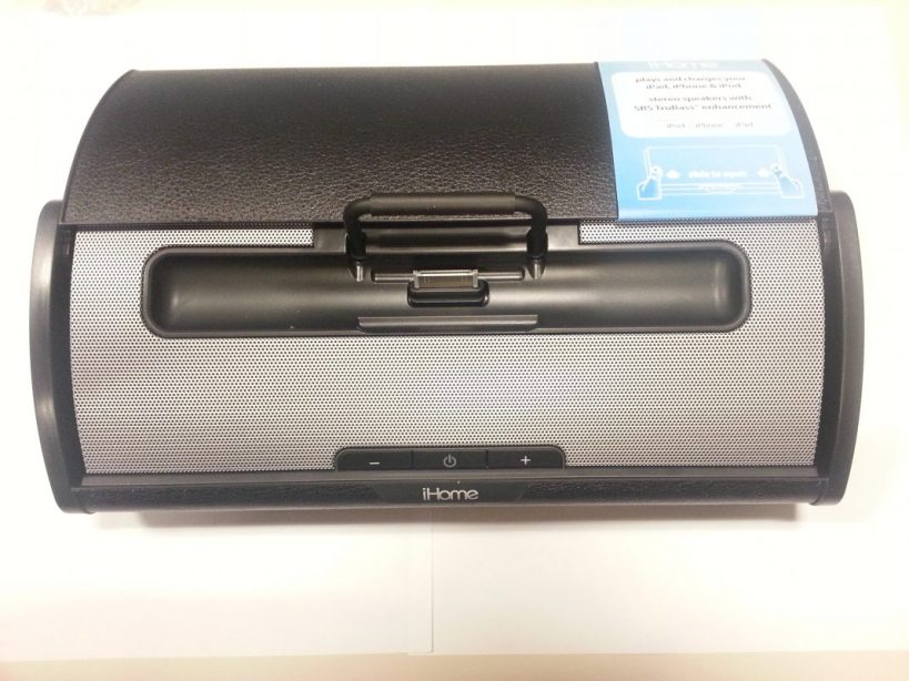 iHome iD55 Portable Stereo Speaker System - Cover back and Ports