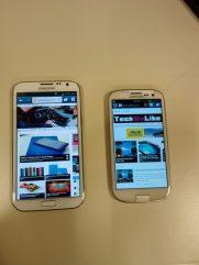 Samsung Galaxy Note II - Compared to the Samsung Galaxy S III