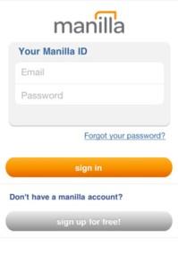Manilla App Sign In (iOS)