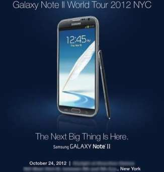 Samsung Galaxy Note II - World Tour Invite