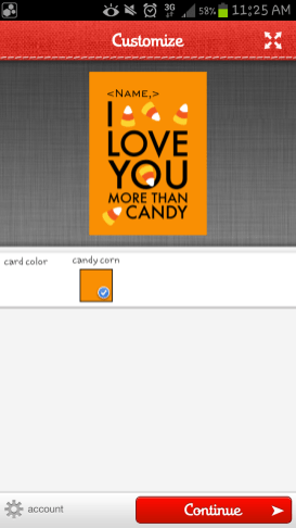 Sincerely Ink App - Customized Name Halloween Card