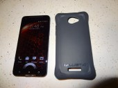 HTC DNA Shell Gell Ballistic SG (4) - Case Accessories Back View - G Style Magazine Both