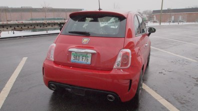 2013 Fiat 500 Abarth rear exterior