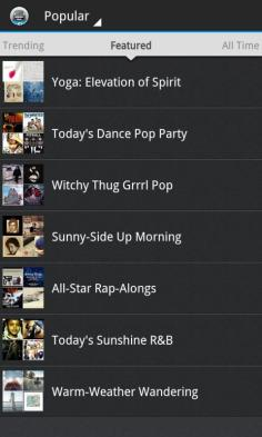 Songza App Lists 7 - BlackBerry Z10 - G Style Magazine review