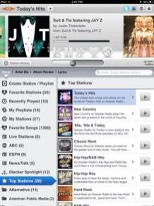Slacker Radio My Radio Info iPad