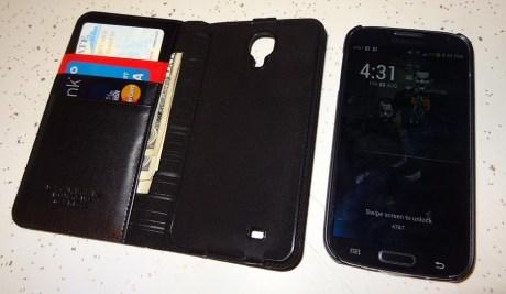 Spigen Leather Wallet SNAP case Samsung Galaxy S4 (6)