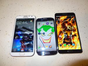 Left to Right :Note 2. S4, & Note 3