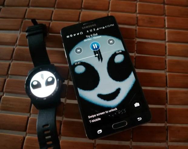 LG G Watch R Google Play Music