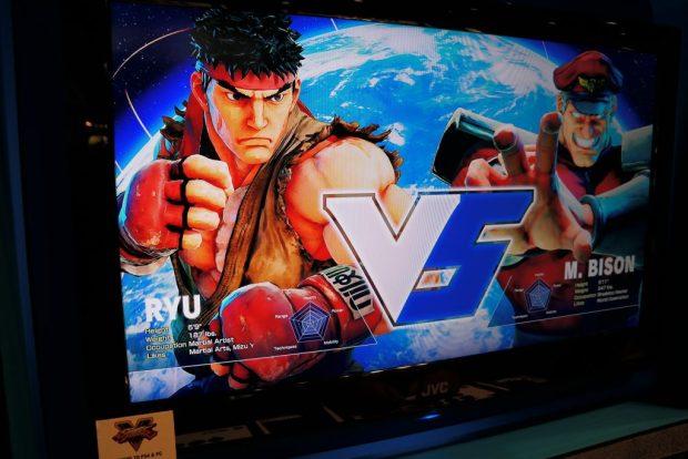 Street Fighter V E3 VS screen