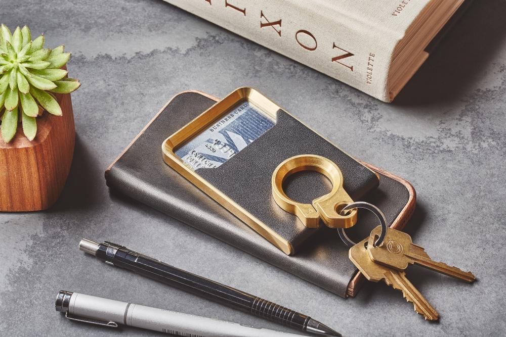 Grovemade - Brass Minimalist Wallet - Lifestyle