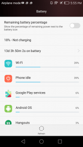 Honor 5X Standby Time