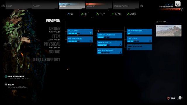 Tom Clancy Ghost Recon Wildlands character build