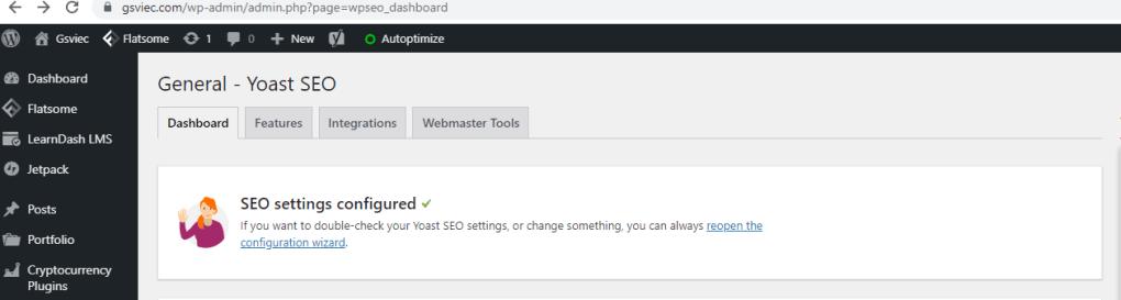 Thiết lập Yoast SEO trên WordPress