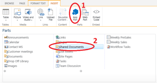 Addind a webPart or AppPart to a SharePoint page