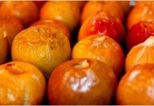 Sült alma marcipántöltelékkel